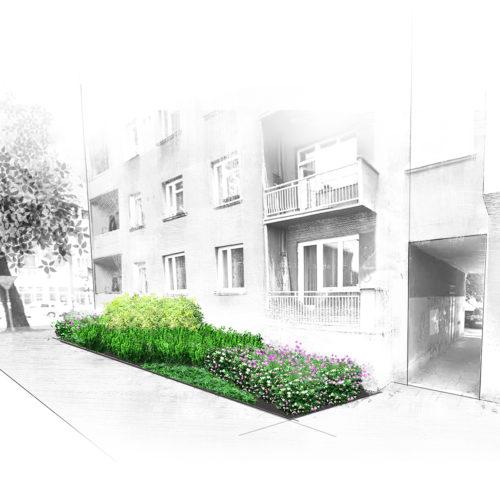 Mini projekt zagospodarowania zieleni miejskiej w Krakowie
