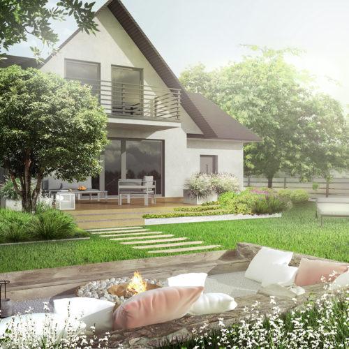 Mogilany Podedworze projekt ogrodu naturalistycznego w stylu angielskim