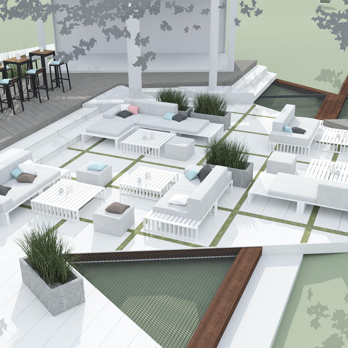ogród restauracyjny